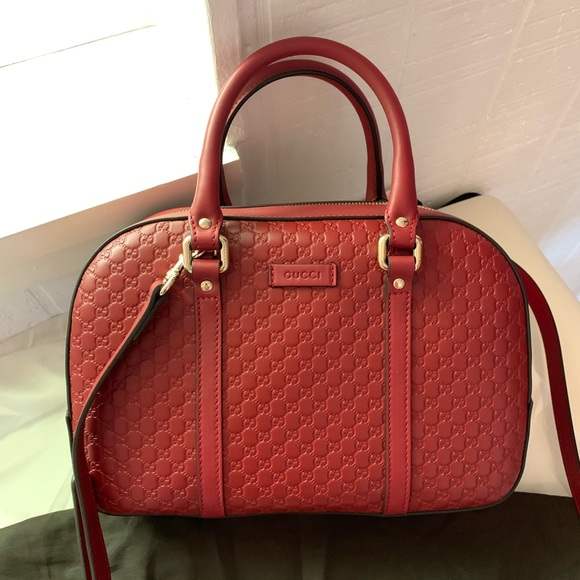 Gucci Handbags - ❤️NWT Gucci 510286 Micro GG Red Satchel Purse Bag